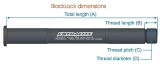 Extralite Black-Lock 12.4RA Bakaksling Scott Road, 158mm / M12x1.5