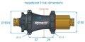 Extralite HyperBoost R Baknav Sort, Shimano 12-delt 60T, 24-32H