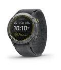 Garmin Enduro GPS-Klocka Stål med grå UltraFit-nylonrem
