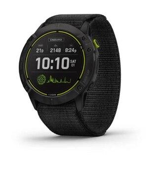 Garmin Enduro DLC-titan GPS-Klocka Carbongrå, Svart UltraFit-nylonrem