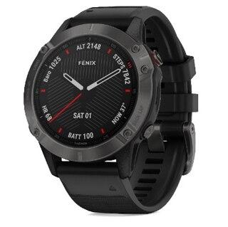 Garmin Fenix 6 Sapphire GPS-Klocka Grå, Svart reim
