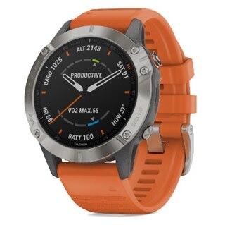 Garmin Fenix 6 Sapphire Ti GPS-Klocka Grå, Orange reim