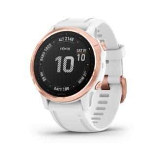 Garmin Fenix 6S Pro GPS-Klocka Rosegull med Vit reim