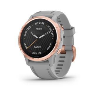 Garmin Fenix 6S Sapphire GPS-Klocka Roseguld, Grå rem