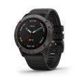 Garmin Fenix 6X Sapphire GPS-Klocka Grå, sort reim