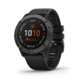 Garmin Fenix6X Pro Solar Ti GPS-Klokke Grå, sort reim