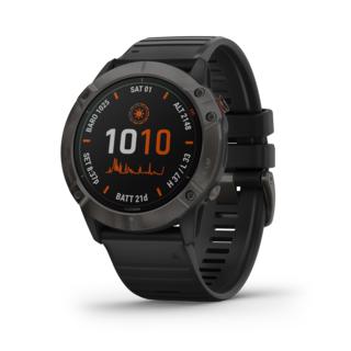 Garmin Fenix 6X Pro Solar Ti GPS-Klokke Grå, sort reim