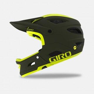 Giro Switchblade MIPS Fullhjelm Matte Olive/Citron, Str. L
