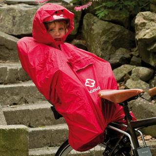 Hamax Regn Poncho Röd, skyddar barnet mot regn!