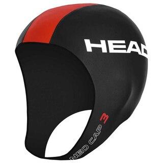 HEAD Neo Svømmehette Sort/Rød, Str. L/XL