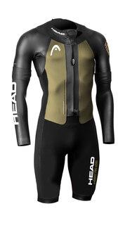 HEAD Swim Run MyBoost Pro Aero Våtdrakt Sort/Gull, Str. XS-XL