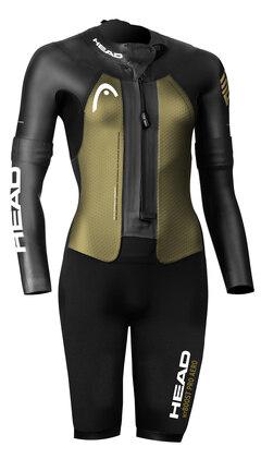 HEAD Swim Run MyBoost Pro Aero Våtdrakt Sort/Gull, Str. S