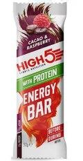 HIGH5 Energibar Protein Kakao/Bringebær 12 PACK