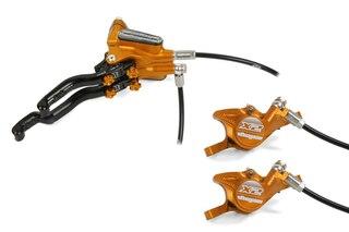 Hope Tech 3 DUO X2 Skivbroms Orange, Vänster Sida