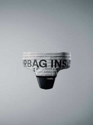 Hövding Airbag Basskal Grå/svart, reflektiv