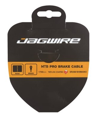 Jagwire MTB Slick Stainless Bromsevajer Silver, 1,5mm x 1700mm