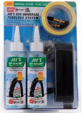 "Joe's ECO Universal Tubelesskit 26-27.5-29"", 250ml, 15-25mm fälgar"