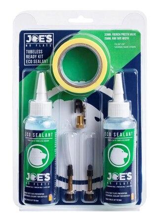 "Joe's ECO Tubeless Ready Kit 26-27.5-29"", 2x125ml, 2xVentiler, tejp"
