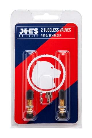 Joe's Tubeless Ventil PAR Bil, mässing, m/ventilinsats/verktyg