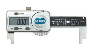 KMC Digital kedjemätare Kontrollerar slitaget på kedjan