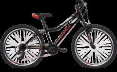 Kross Hexagon JR 1.0 SR Juniorsykkel Black/Red/Silver