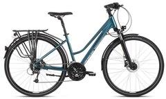 Kross Trans 8.0 Dame Hybridsykkel Turquoise/Black, Str. L