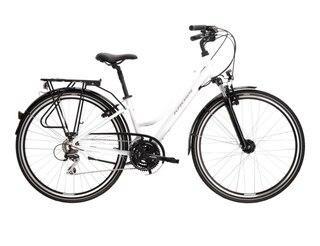 Kross Trans 3.0 Dame Hybridsykkel Hvit/grå, Str. L