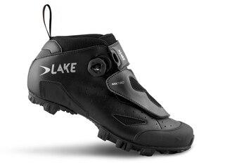 Lake MX 180 Regular Terrengsko Sort, Ekte skinn, mye for pengene!