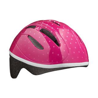 Lazer Bob Barnehjelm Pink Dots, 46 - 52 cm