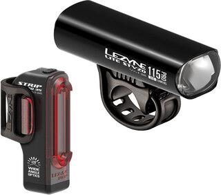 Lezyne Lite Pro 115 + Strip Lyssett 290/36 lumen, USB lading, IPX7