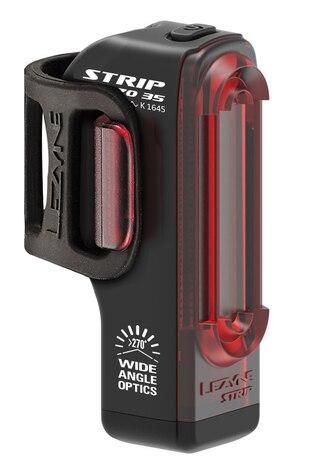 Lezyne Strip StVZO Baklys 9-36 lumen, 3-13 timer, USB, IPX7, 36 g