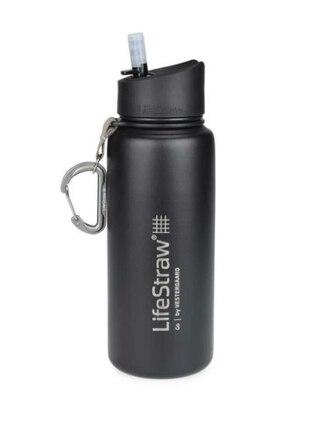 LifeStraw Go Flaska m/Vattenfilter Black, Stainless Steel, 650 ml