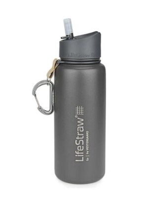 LifeStraw Go Flaska m/Vattenfilter Grey, Stainless Steel, 650 ml