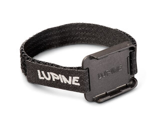 Lupine Remote Armbånd Sort, Velcro