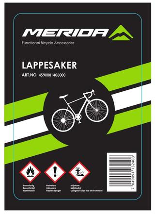 Merida Standard Lappesaker Inkl. Lim, lapper og skrubb