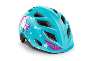 MET Elfo Sykkelhjelm Barn Blue Unicorn, 46-53 cm