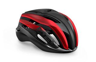 MET Trenta 3K Carbon Hjelm Black/Red Metallic, Str. M