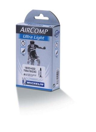 Michelin A1 AirComp Ultra Light Slange Butyl, 18/25x622, 60 mm presta, 75 gr
