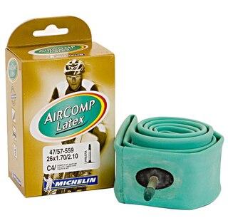 Michelin C4 47/57- 559 AV AirComp Latex Slange, Latex, 26 x 1.9-2.2, Bilventil