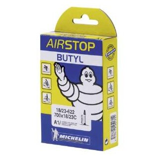 Michelin A1 18/25- 622 Slange Butyl, 18/25x700, 80 mm presta
