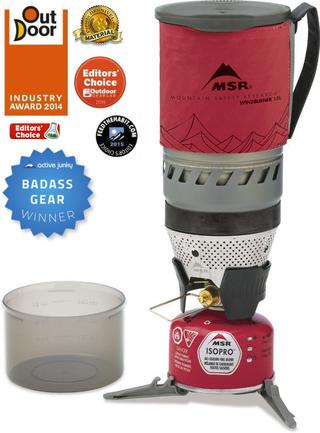 MSR Windburner 1.0 L Stormkjøkken Testvinner, Vindtett og effektiv!