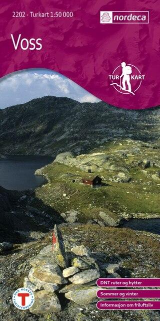 Nordeca Voss Vandringskarta 1:50 000