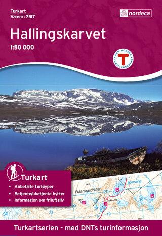 Nordeca Hallingskarvet Vandringskarta 1:50 000