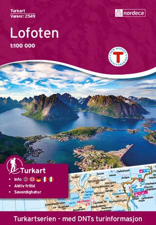 Nordeca Lofoten Vandringskarta 1:100 000