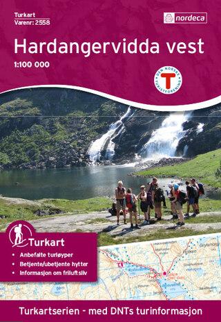 Nordeca Hardangervidda Väst Turkart 1:100 000