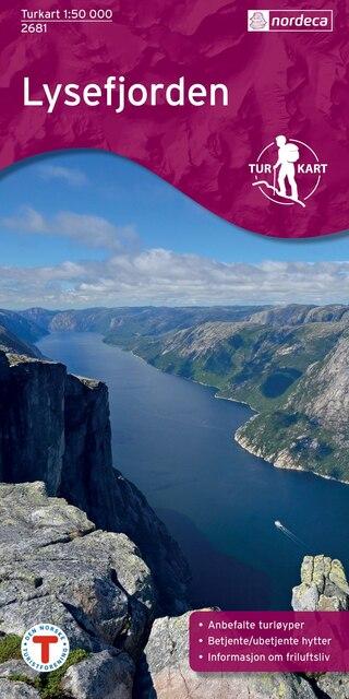 Nordeca Lysefjorden Vandringskarta 1:50 000
