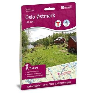 Nordeca Oslo Østmark Vandringskarta 1:25 000