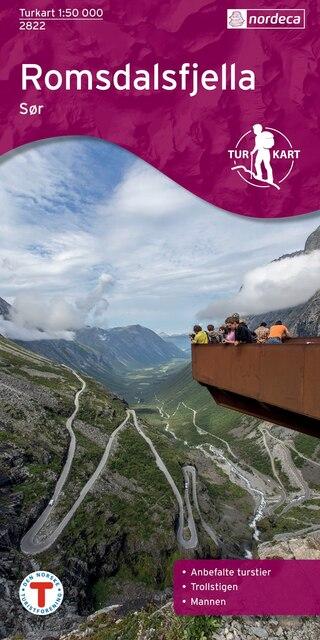 Nordeca Romsdalsfjella Sør Turkart 1:50 000
