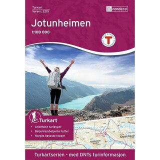Nordeca Jotunheimen Vandringskarta 1:100 000