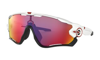 Oakley Jawbreaker Prizm Briller Polished White/Prizm Road